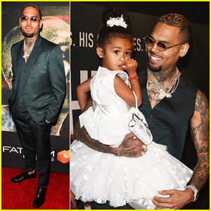 Chris Brown Brings Daughter Royalty To 'Welcome To My Life' Premiere: 'She's My Number One'