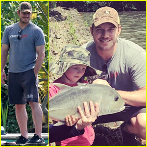 Chris Pratt Goes Fishing with His Son & Has Proud Dad Moment