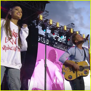 Coldplay's Chris Martin Sings 'Don't Look Back in Anger' to Ariana Grande at 'One Love Manchester' (Videos)