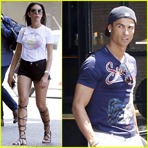Cristiano Ronaldo & Girlfriend Georgina Rodriguez Step Out for Celebratory Lunch