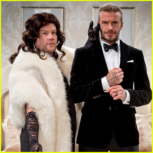 David Beckham Plays James Bond with James Corden as His Bond Girl - Watch Now!