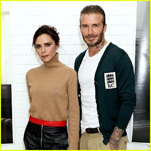 David & Victoria Beckham Are One Stylish Couple at Kent & Curwen Fashion Show!