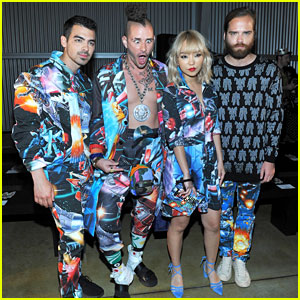 DNCE Match in Out-of-This-World Outfits at Moschino Show