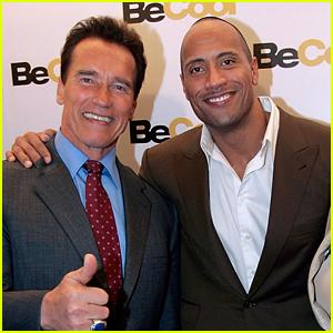 Dwayne Johnson 'Butchers' Arnold Schwarzenegger Impression on 'Rampage' Set (Video)