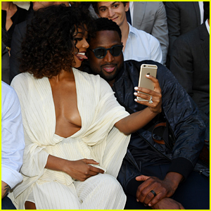 Dwyane Wade & Gabrielle Union Take a Silly Selfie at Berluti Show in Paris