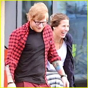 30e40c381 Ed Sheeran   Girlfriend Cherry Seaborn Go for Helicopter Ride ...