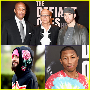 Eminem Makes Rare Official Appearance At Dr. Dre's 'Defiant Ones' Premiere!