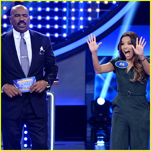 Eva Longoria Gets 193 Out of 200 Points for 'Family Feud' Fast Money - Watch Now!