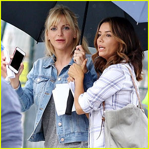 Eva Longoria Joins Anna Faris on 'Overboard' Set - See the Pics!