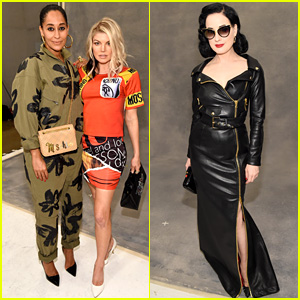 Fergie & Tracee Ellis Ross Wear Jeremy Scott's Designs at Moschino Show!