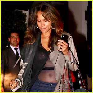 Halle Berry Bares Midriff with Sheer Top After Pregnancy Rumors
