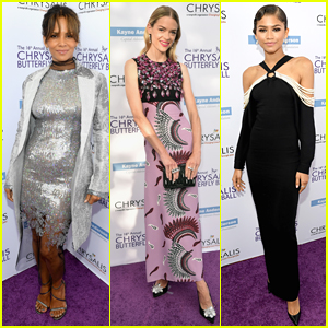 Halle Berry, Jaime King, & Zendaya Go Glam for the Butterfly Ball