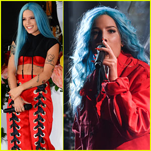 Halsey Performs 'Eyes Closed/Now or Never' Medley on 'Late