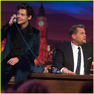 Harry Styles Takes a Surprise Phone Call on 'Late Late Show' - Watch!