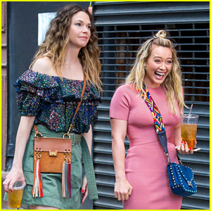 Hilary Duff & Sutton Foster Look Chic on Set for 'Younger'!