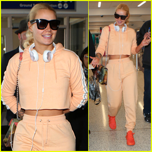 Iggy Azalea is All Smiles While Greeting Fans at LAX
