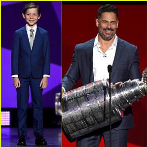 Jacob Tremblay & Joe Manganiello Suit Up for NHL Awards 2017