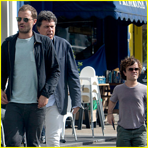 Jamie Dornan & Peter Dinklage Lunch in London with Their Director