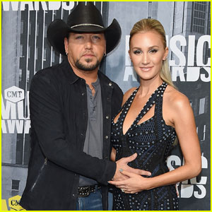 Jason Aldean's Wife Brittany Kerr Debuts Baby Bump on CMT Awards 2017 Carpet