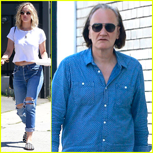 Jennifer Lawrence Joins Quentin Tarantino for a Lunch Meeting!