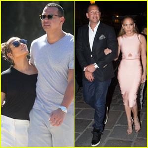 Jennifer Lopez & Alex Rodriguez Continue Romantic Paris Trip
