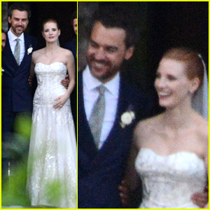 Jessica Chastain's Wedding Photos Revealed - See Her Dress!