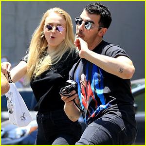 Joe Jonas & Sophie Turner Have Fun with the Cameras!