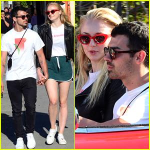 Joe Jonas & Sophie Turner Take a Ride in a Little Red Corvette!