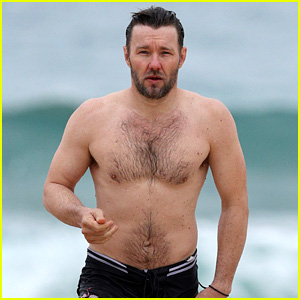 Joel Edgerton Bares Fit Body for Shirtless Swim in Sydney!