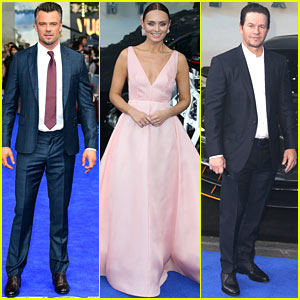Josh Duhamel & Mark Wahlberg Suit Up in Blue at 'Transformers: The Last Knight' World Premiere