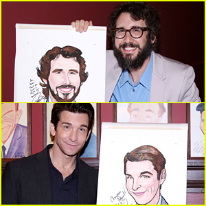 Broadway's Josh Groban & Andy Karl Honored with Portraits at Sardi's