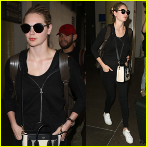 Kate Upton Jets Out of LAX Airport