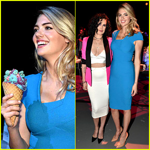 Kate Upton's Colorful Ice Cream Looks Like the Perfect Summer Treat