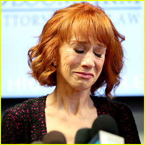 Kathy Griffin Tears Up During Press Conference, Says Trump is Bullying Her (Video)
