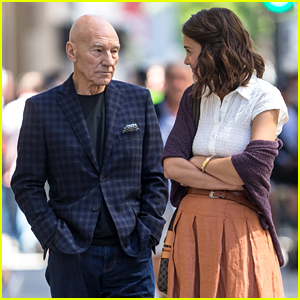 Katie Holmes & Patrick Stewart Start Shooting 'The Gift'