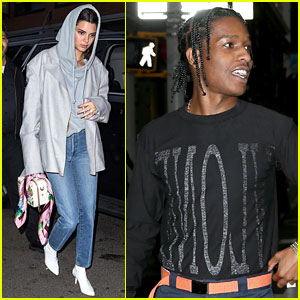 Kendall Jenner & A$AP Rocky Leave Kanye West's Apartment
