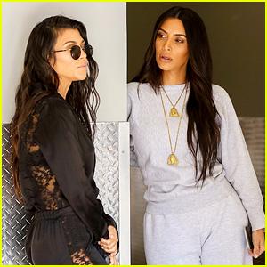 Kim Kardashian Looks Chic in Sweats at Nephew's Art Class