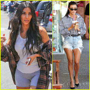 Kim & Kourtney Kardashian Take Their Daughters to Color Me Mine