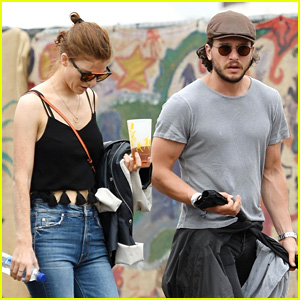 Kit Harington & Rose Leslie Couple Up at Glastonbury Festival!