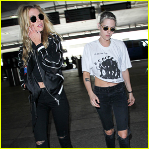 Kristen Stewart & Stella Maxwell Wear Matching Outfits Again!