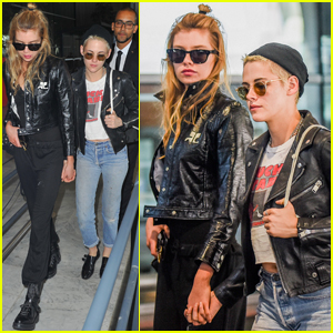 Kristen Stewart & Stella Maxwell Couple Up In Paris!