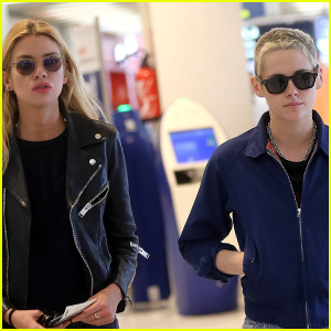 Kristen Stewart & Girlfriend Stella Maxwell Jet Out of Paris