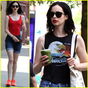 Krysten Ritter Rocks Two Different Outfits on 'Jessica Jones' Set