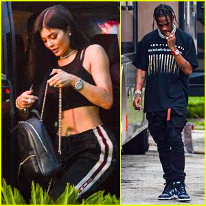Kylie Jenner Grabs Dinner with Rumored Boyfriend Travis Scott in Miami