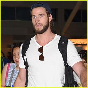Liam Hemsworth Brings His Hot Scruffy Beard to the Big Apple