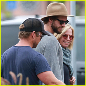 Liam Hemsworth Grabs Lunch With Luke & Parents (Whom Billy Ray Cyrus Totally Loves)