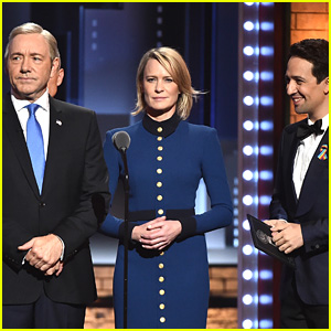 Lin-Manuel Miranda Says Robin Wright's Tonys Appearance Was a Surprise to Him!