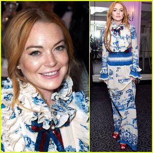 Lindsay Lohan Stuns at British Asian Trust's Ramadan Event