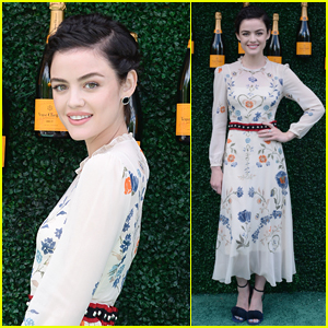 Lucy Hale Arrives in Style for Veuve Clicquot Polo Event