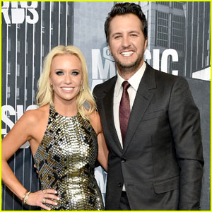 Luke Bryan & Wife Caroline Boyer Attend CMT Awards 2017